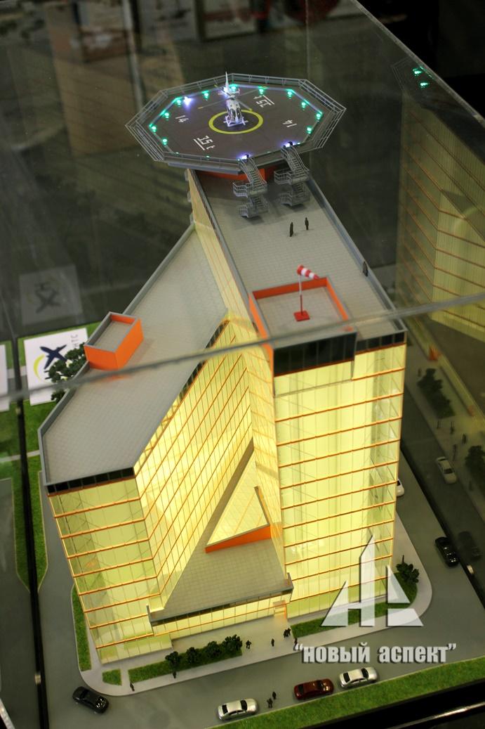 Вертолетная площадка на здании