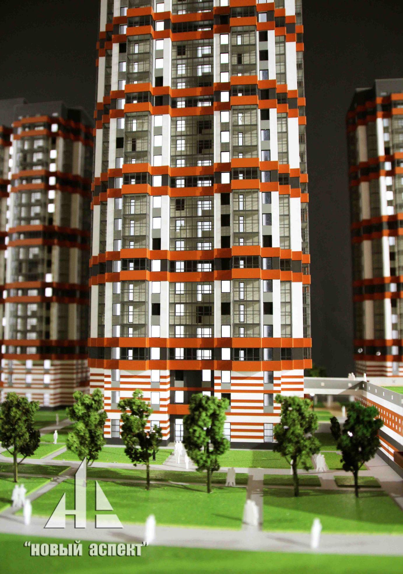 Макеты жилых домов и комплексов бдт2