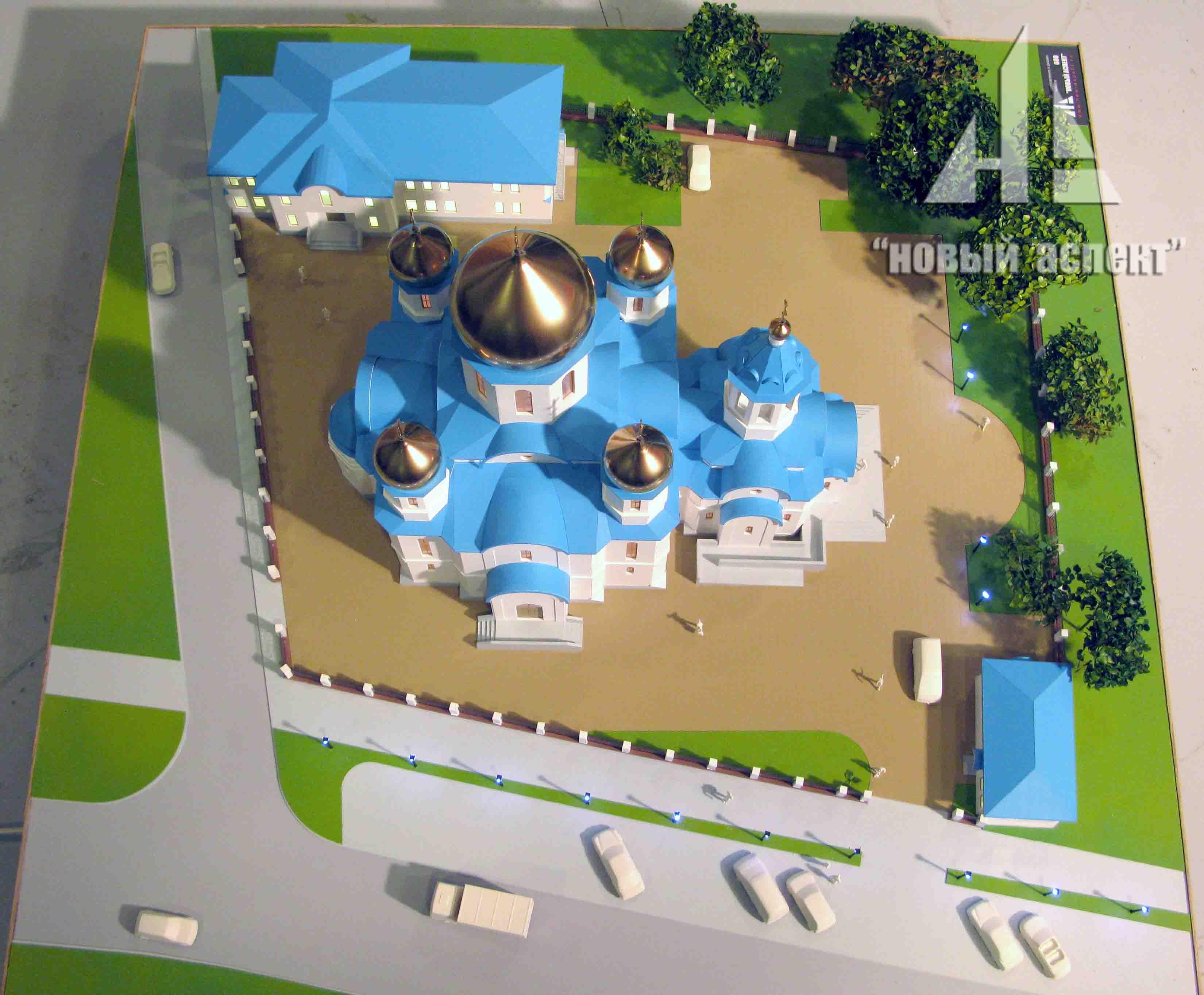 Макеты общественных зданий, Храм Крестовоздвижения 3