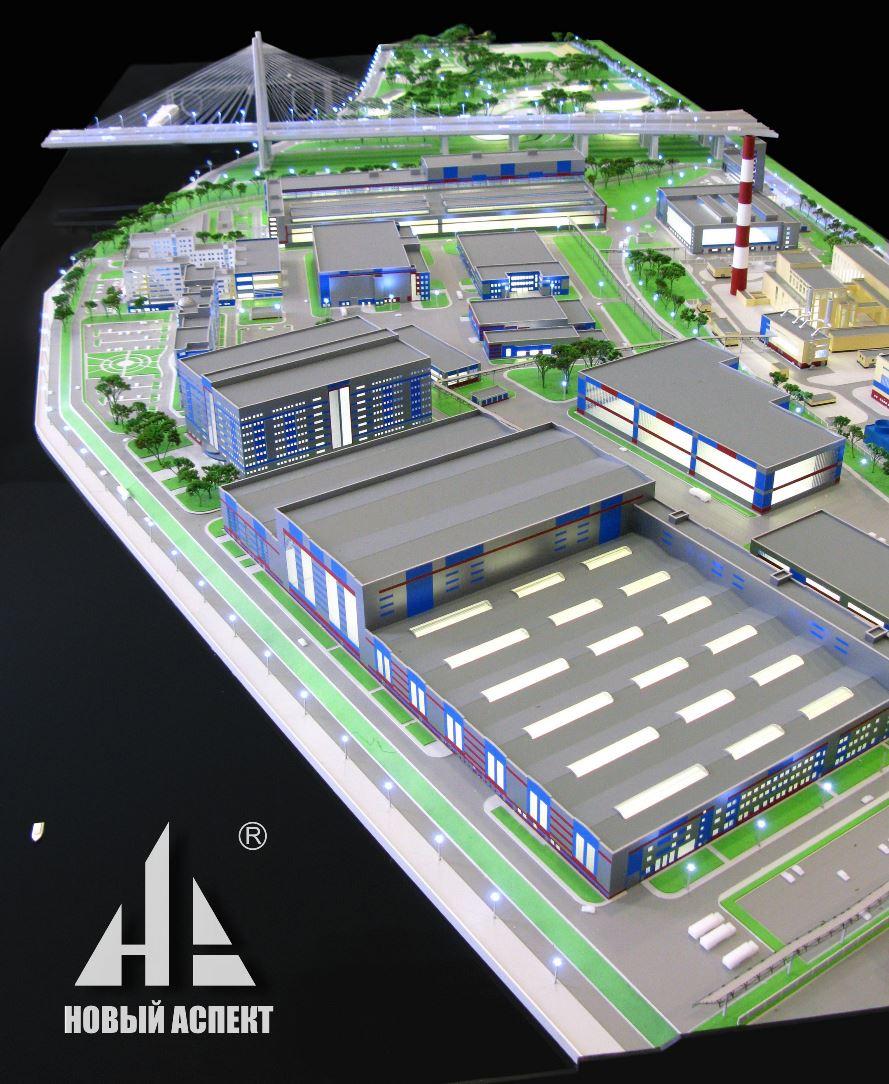 Макеты технологических объектов, реконструкция Обуховского завода 44