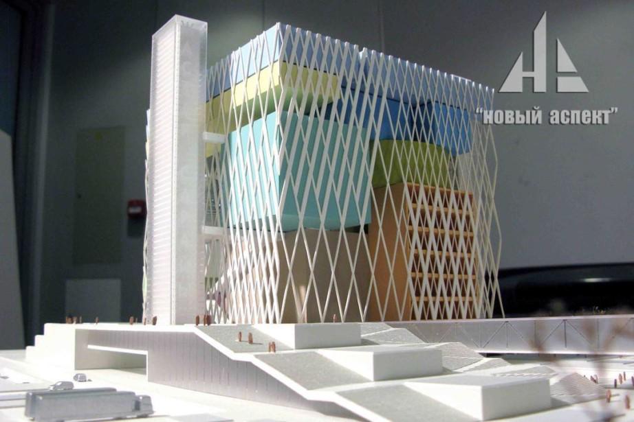 Макет Дворца молодежи в г. Астана