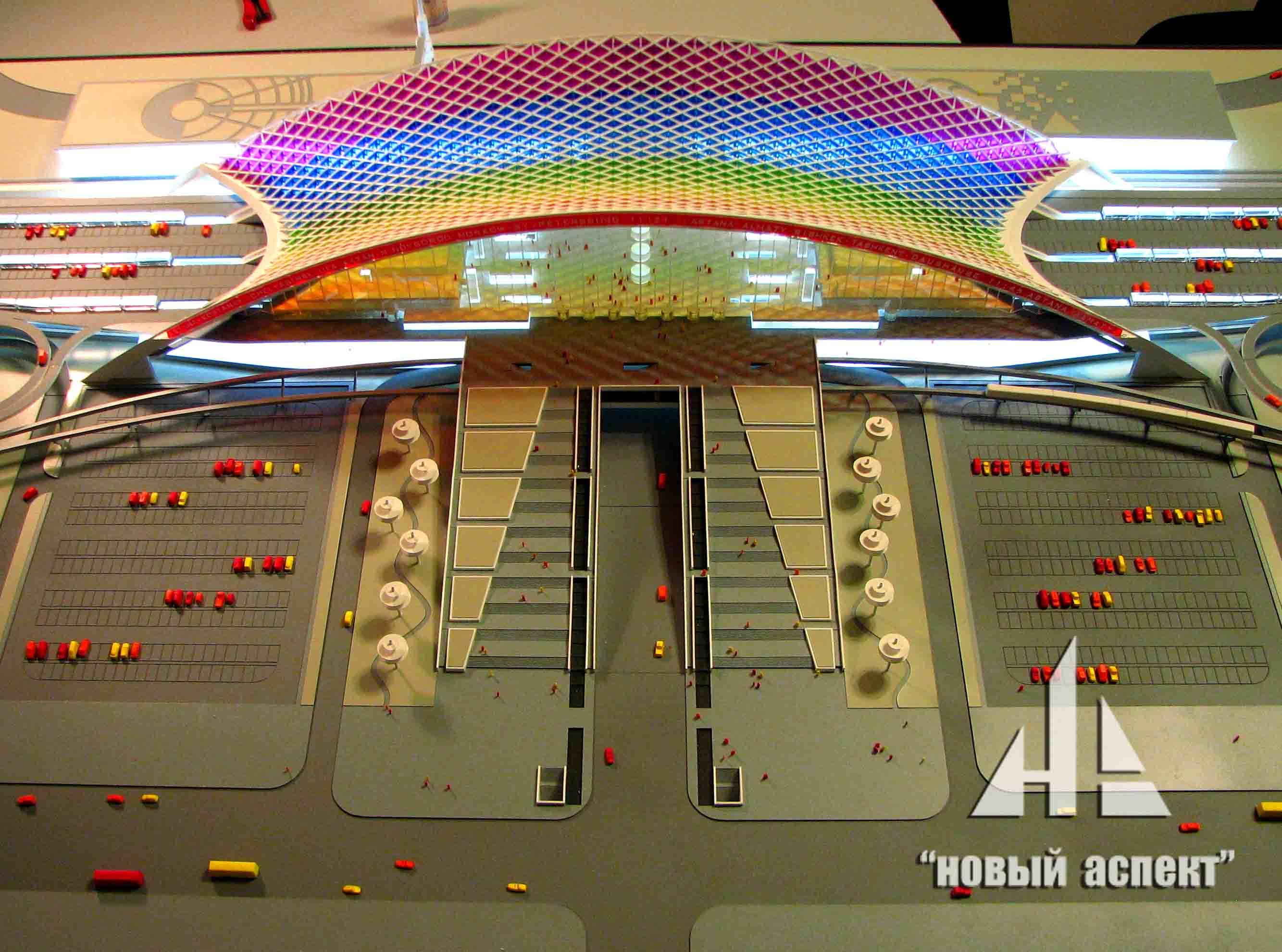 Макеты общественных зданий, Астана Вокзал (1)