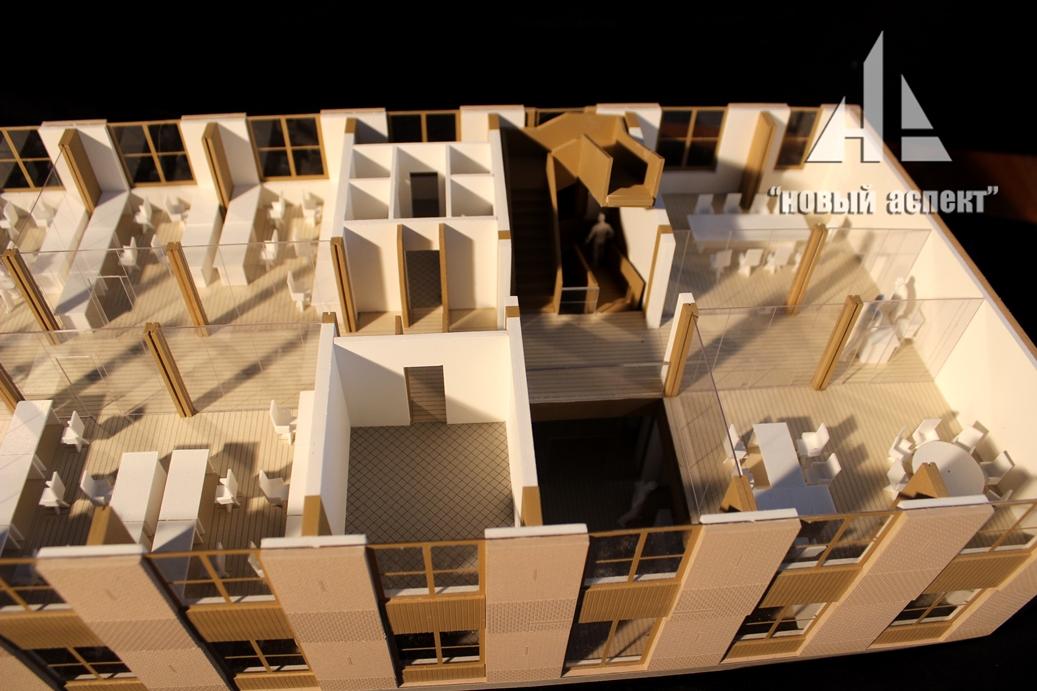 Макеты общественных зданий Дом Хвоя (5)