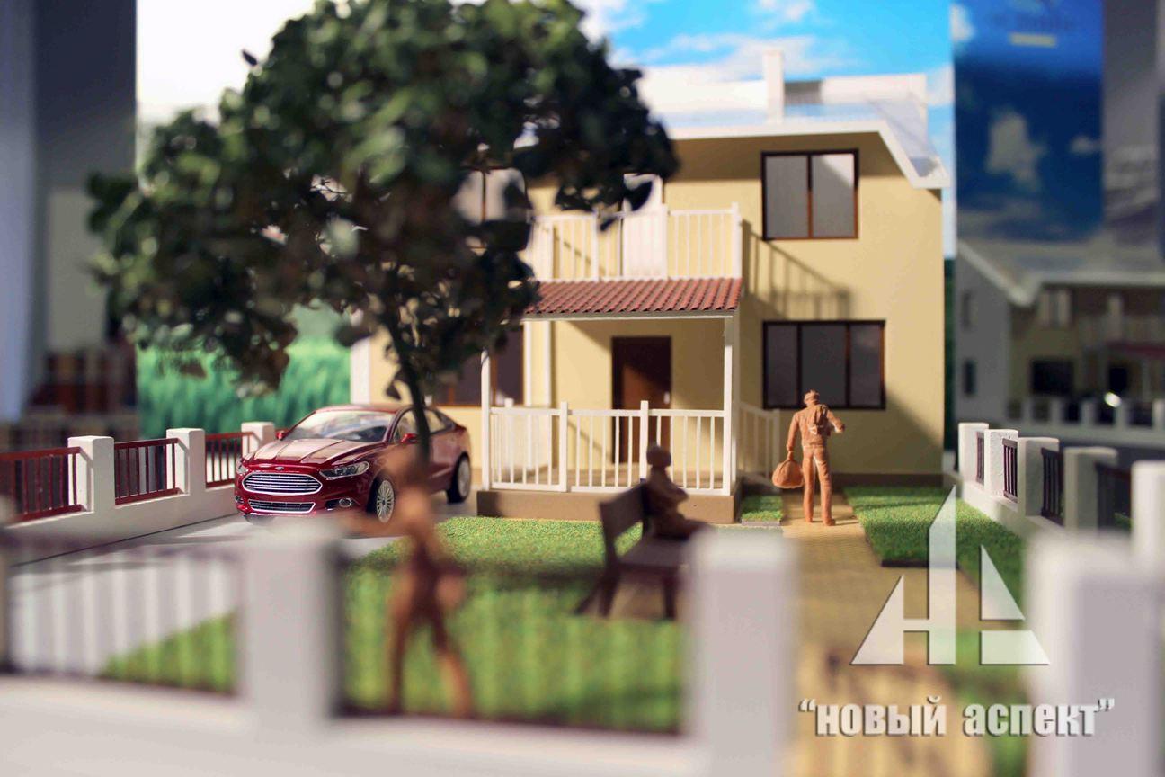 Макеты жилых домов и комплексов Есенин Village (7)