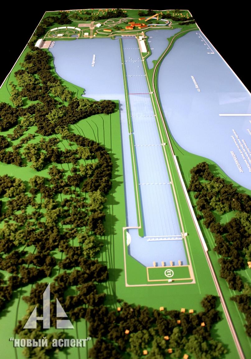 Градостроительные макеты, Гребной Канал (3)