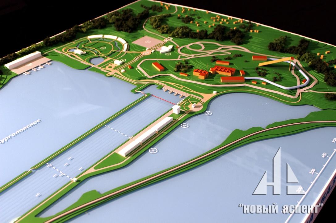 Градостроительные макеты, Гребной Канал (4)
