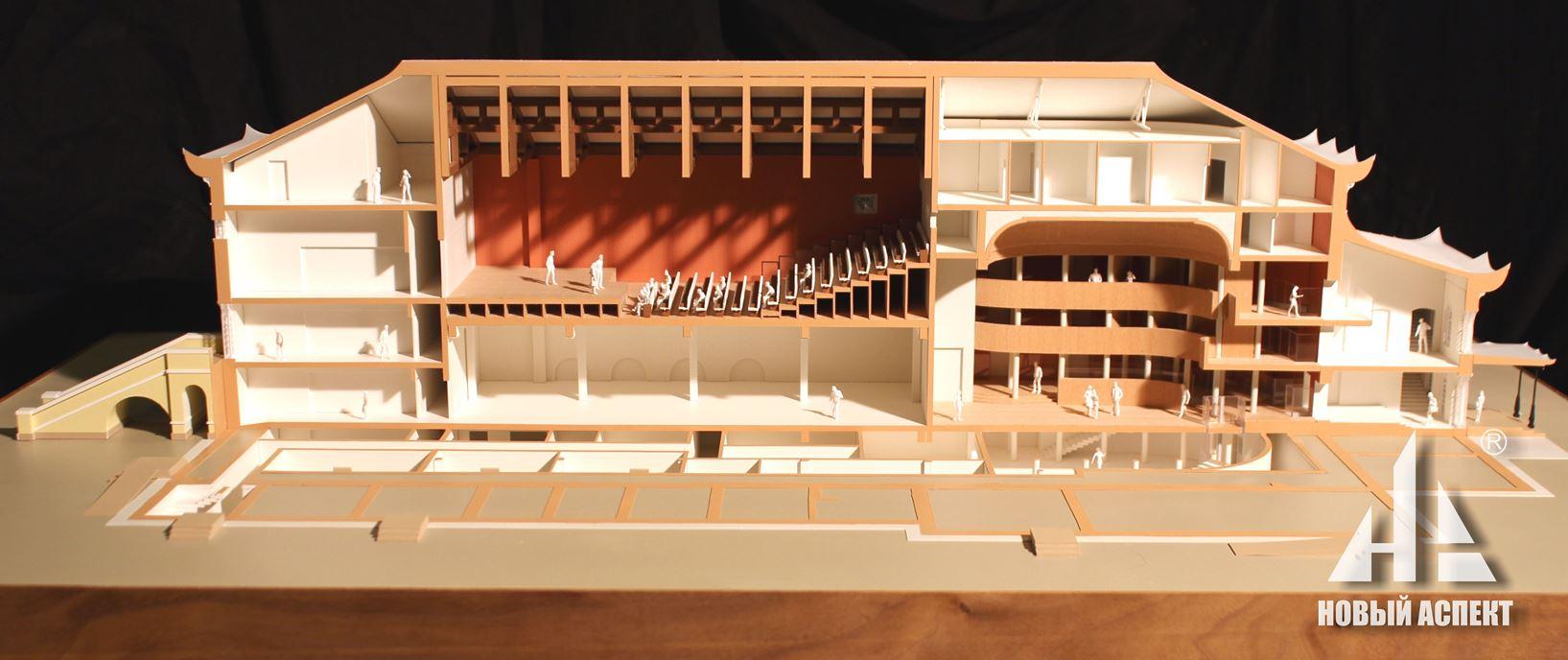 Макеты общественных зданий Китайский Театр (2)