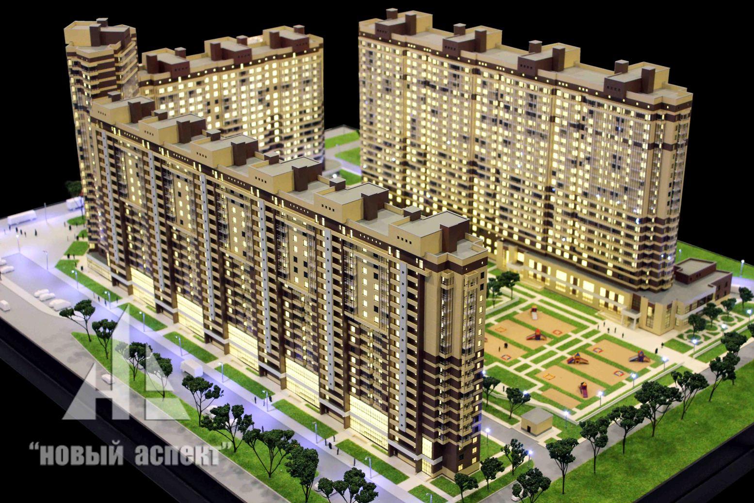 Макеты жилых домов и комплексов Мурино (2)