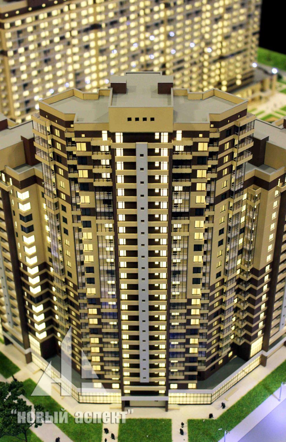 Макеты жилых домов и комплексов Мурино (4)