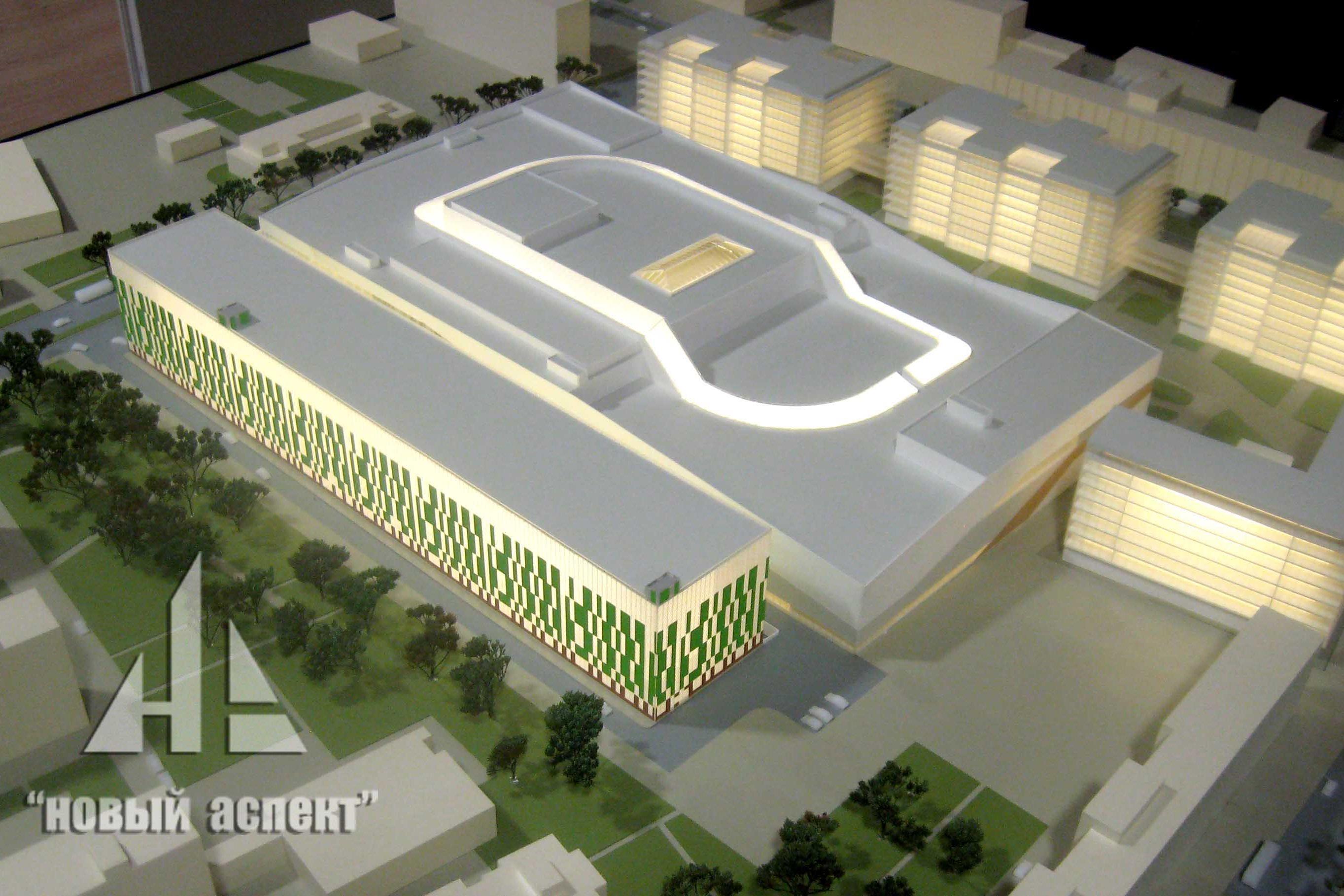 Макеты общественных зданий Охта Молл (2)