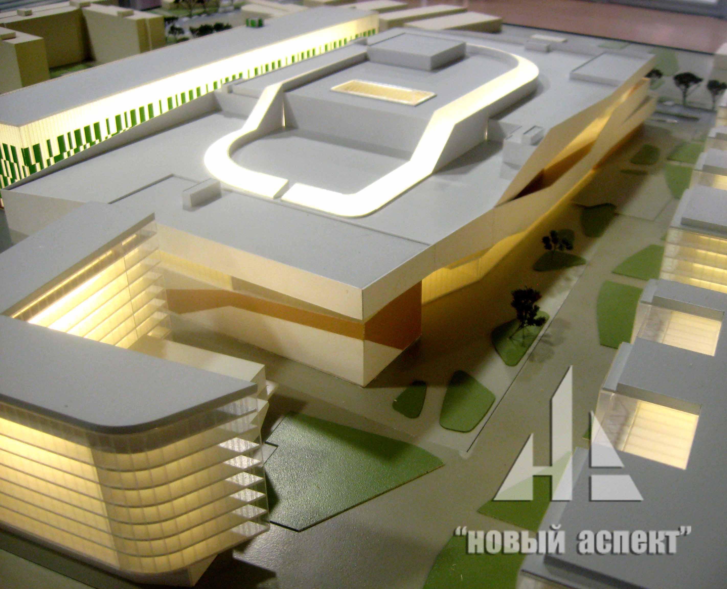 Макеты общественных зданий Охта Молл (4)