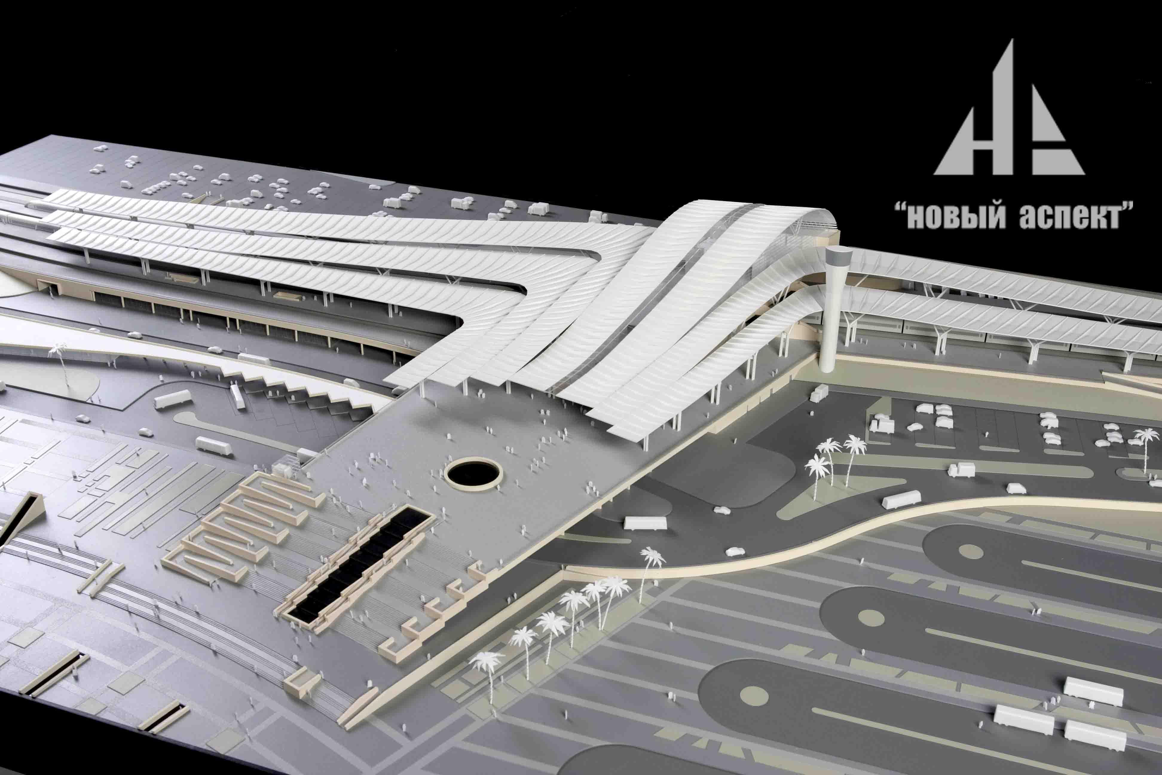 Макеты общественных зданий, Сочи Вокзал (2)