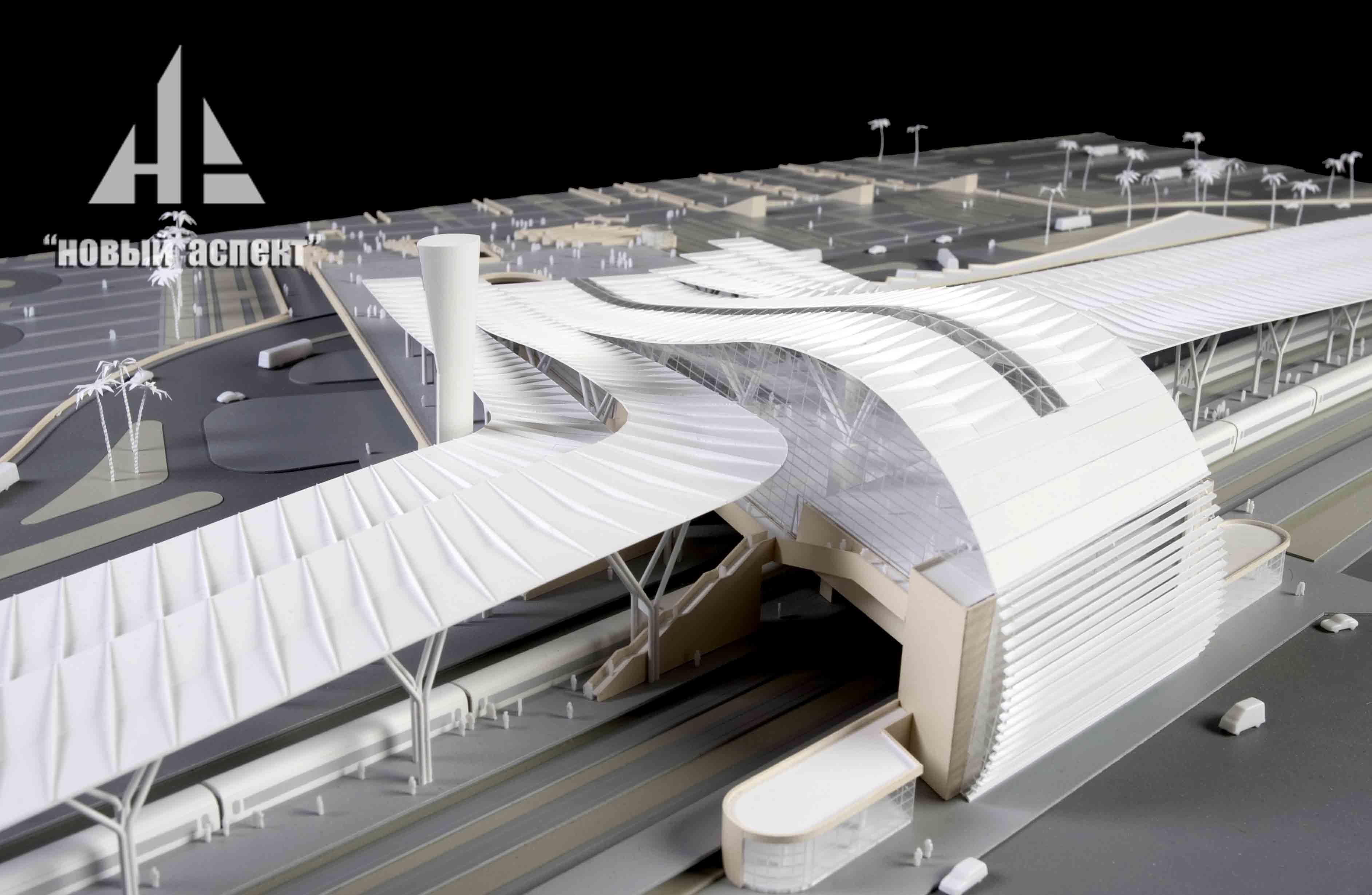 Макеты общественных зданий, Сочи Вокзал (5)