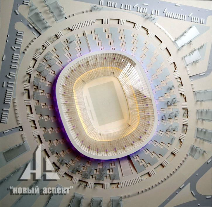 Макеты общественных зданий, Стадион Краснодар (1)