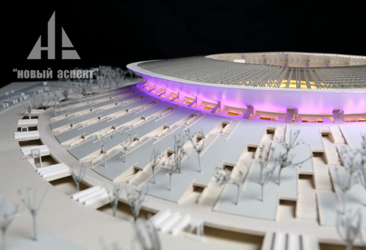 Макеты общественных зданий, Стадион Краснодар (4)