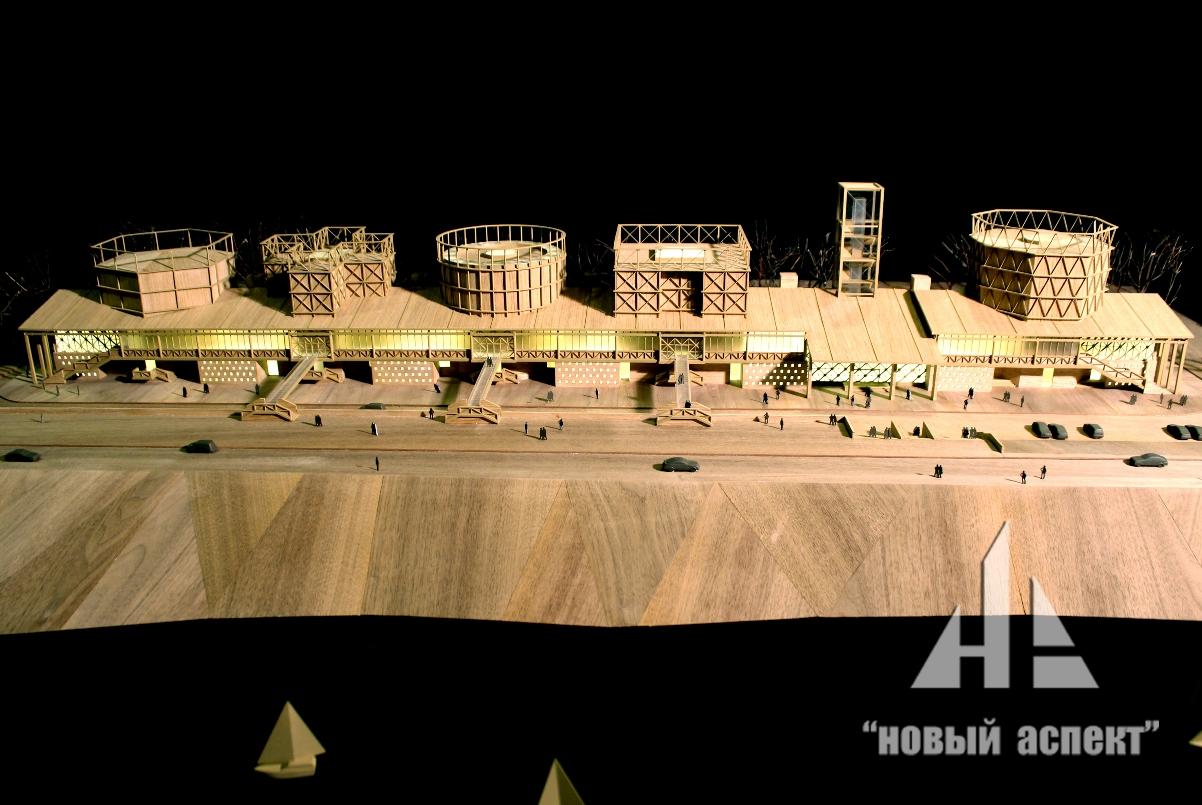 Макет по проекту «Музей науки и техники» в г. Томск
