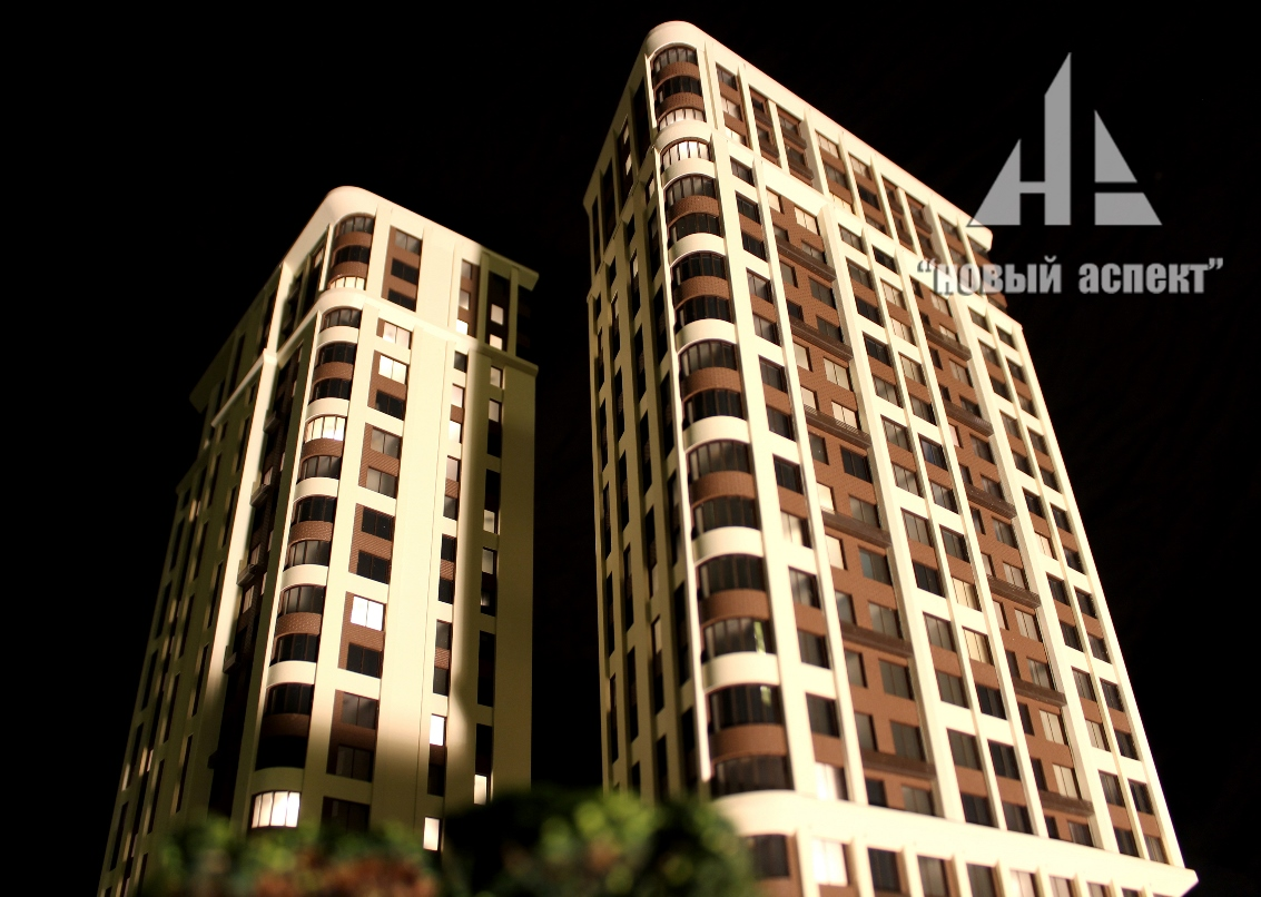 Макеты жилых домов и комплексов Твин Хаус (2)