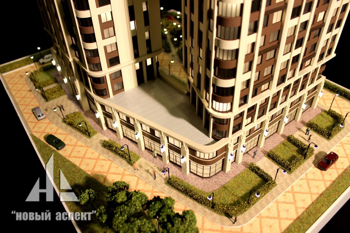 Макеты жилых домов и комплексов Твин Хаус (3)