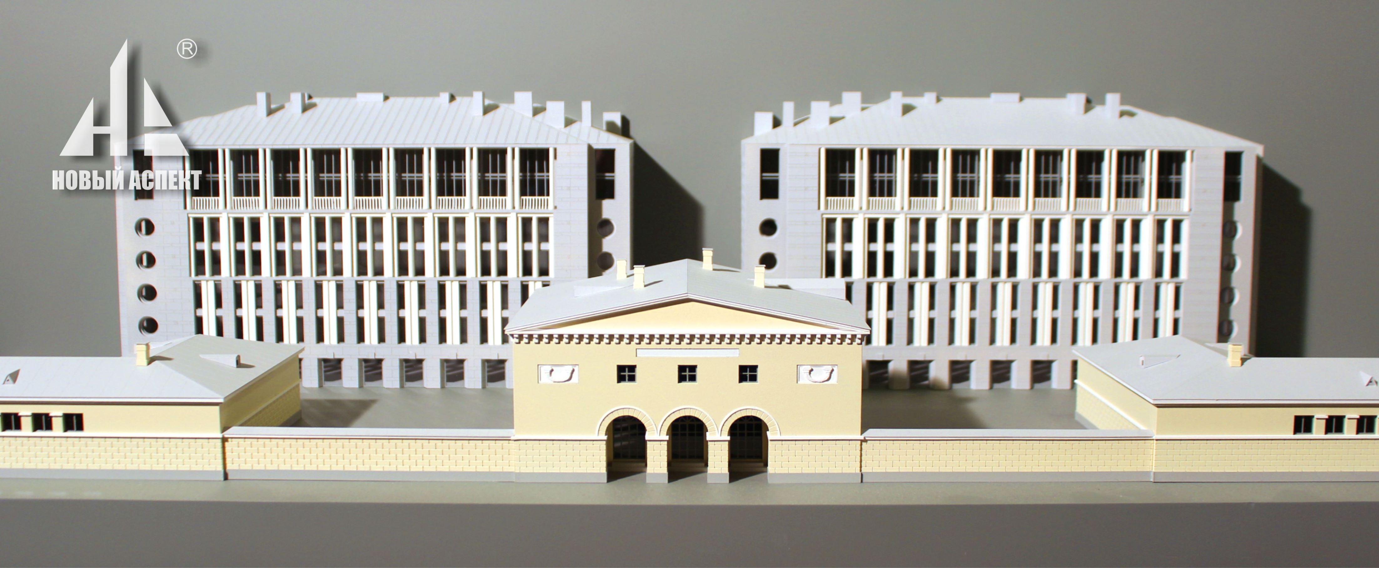 Макеты жилых домов и комплексов, макет развёртки фасадов 1
