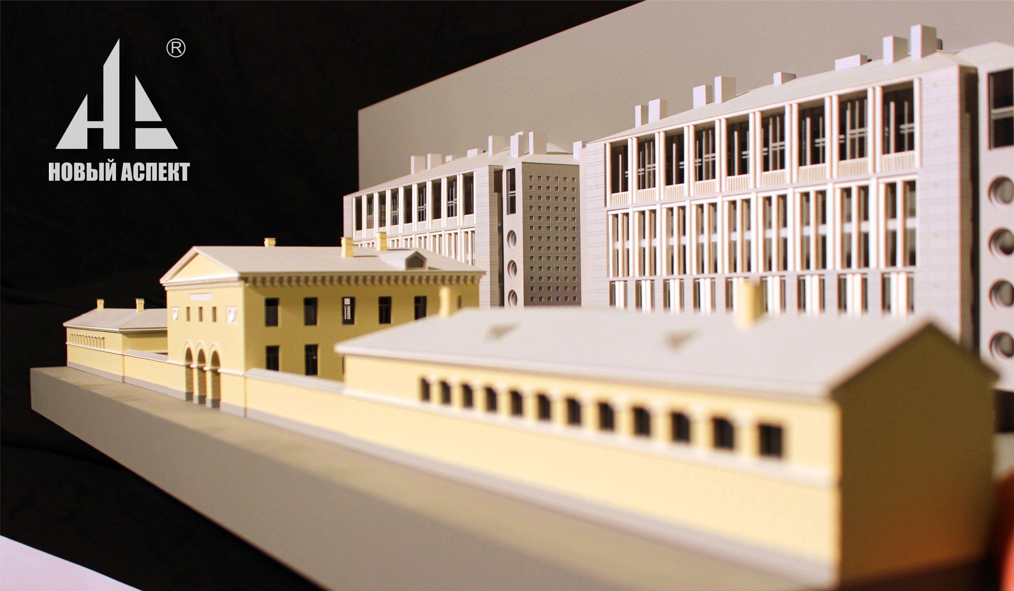 Макеты жилых домов и комплексов, макет развёртки фасадов 2