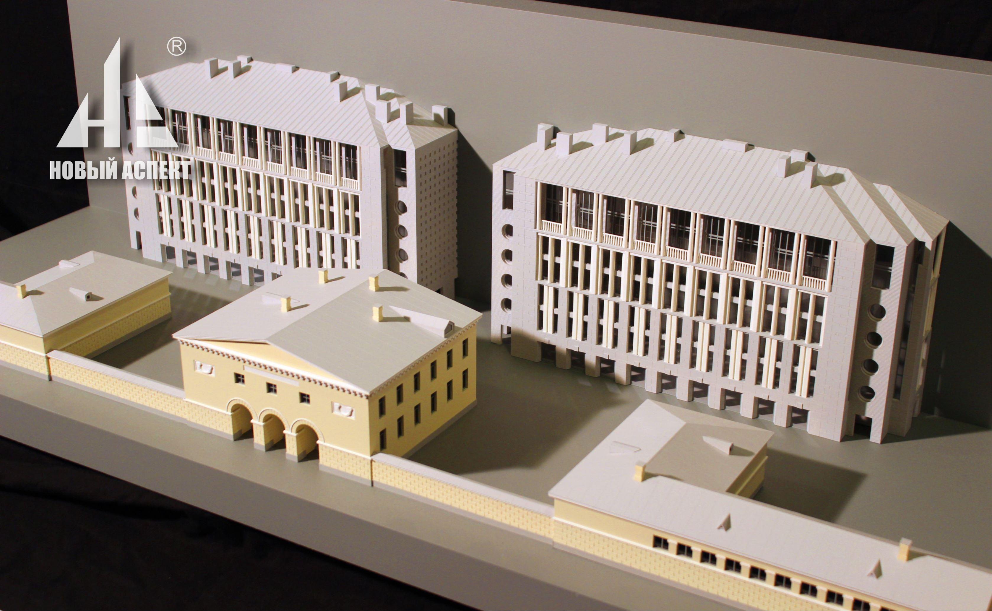 Макеты жилых домов и комплексов, макет развёртки фасадов 4